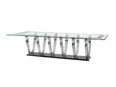 Tavolo da pranzo rettangolare in vetro CASANOVA SPECIAL | Tavolo rettangolare