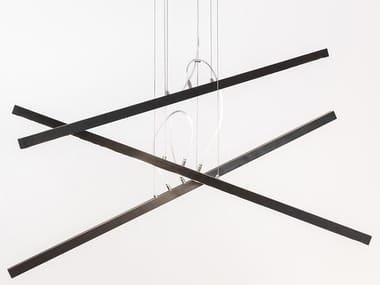 LED wooden pendant lamp CASCADE