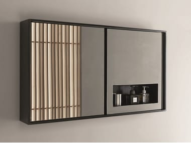 Rectangular mirror with cabinet CASE