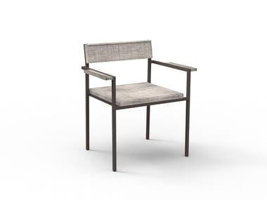 Stackable garden chair with armrests CASILDA | Chair with armrests