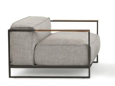 Fabric garden armchair with armrests CASILDA | Garden armchair
