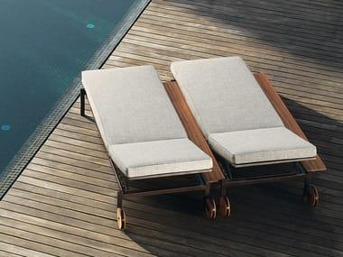 Recliner sun lounger with castors CASILDA | Sun lounger