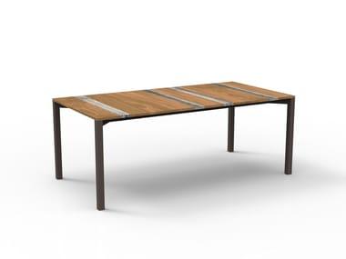 Rectangular wooden garden table CASILDA | Rectangular table