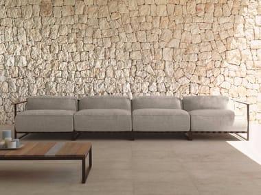 Modular fabric garden sofa CASILDA | 4 seater garden sofa