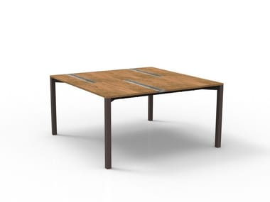 Square wooden garden table CASILDA | Square table