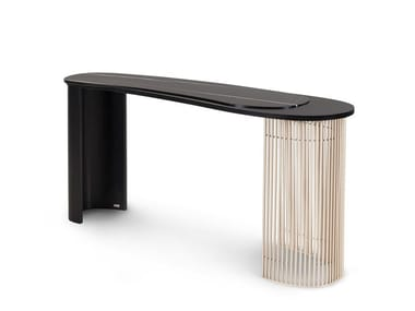 Oval marble and metal console table CASTELO