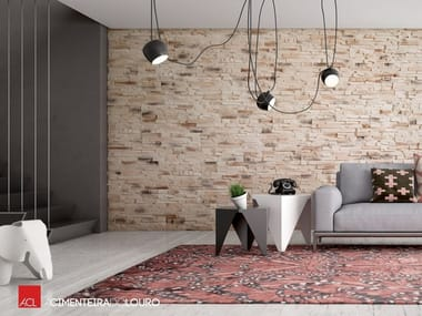 Indoor concrete wall tiles with stone effect CASTER