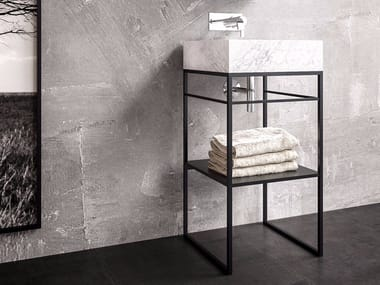 Single steel vanity unit CASTLE