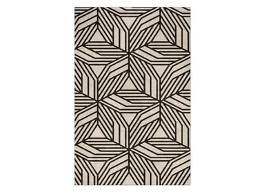 Contemporary style handmade rectangular fabric rug with geometric shapes CAUCA