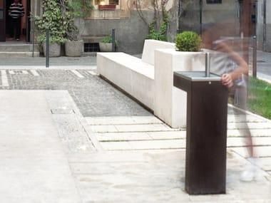 Fontana a pavimento in acciaio Corten™ CAUDAL