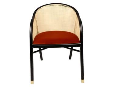 Beech armchair with velvet seat CAVALLO | Velvet armchair