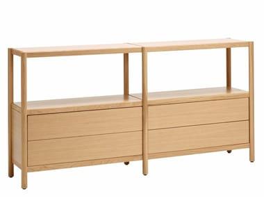Madia componibile in legno con cassetti CAVETTO | Madia