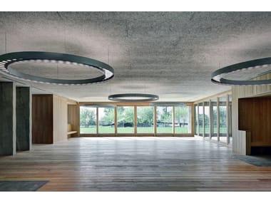 Cement-bonded wood fiber ceiling tiles CELENIT CONTROSOFFITTI