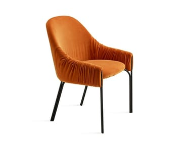 Fabric chair CELINE ARMCHAIR LOW