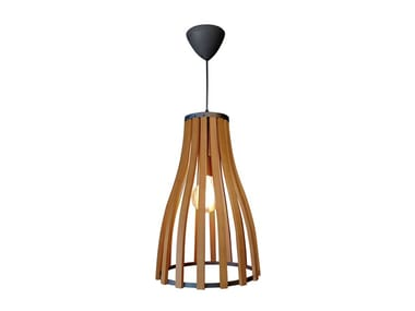 Wooden pendant lamp CELLAR | Pendant lamp