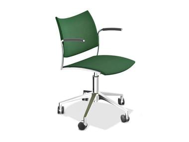 Drehbarer Stuhl aus Stoff mit Armlehnen CELLO 2298-10