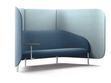 High-back fabric small sofa CELLULAR | Small sofa