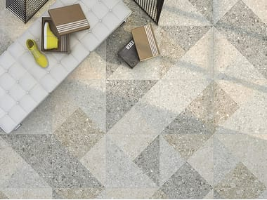 Porcelain stoneware flooring with stone effect CEPPO DI GRE
