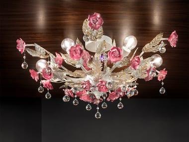 Direct light metal ceiling light CERAMIC GARDEN PL6