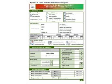 Energy certification CERTIFICAZIONE ENERGETICA