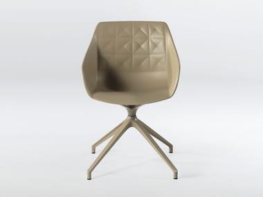 Trestle-based polyurethane chair with armrests CESTER + SPIDER