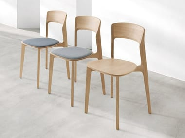 Solid wood chair with integrated cushion CETONIA - TI | Chair with integrated cushion