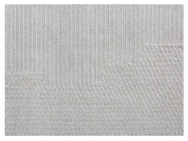 Contemporary style solid-color rectangular wool rug CHADDAR