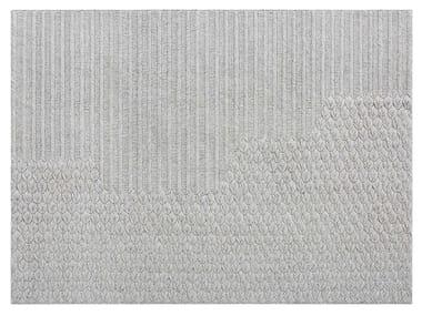 Alfombra lisa rectangular de lana de estilo moderno CHADDAR