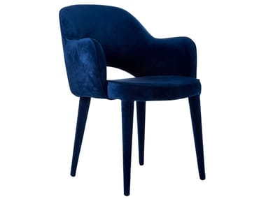 Velvet chair with fire retardant padding COSY | Velvet chair