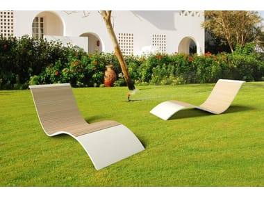 Chaise longue in Solid Surface GODIVA BASSA
