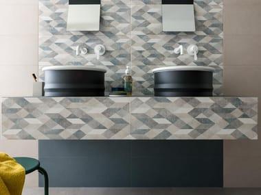 Rivestimento in ceramica a pasta bianca CHALK | Origami Grey