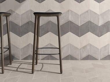 Pavimento/rivestimento in gres porcellanato CHALK WHITE