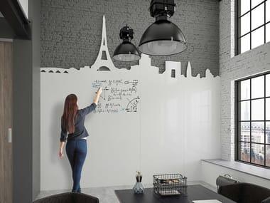 Custom made enameled whiteboard wall CHAMELEON WRITING WALL