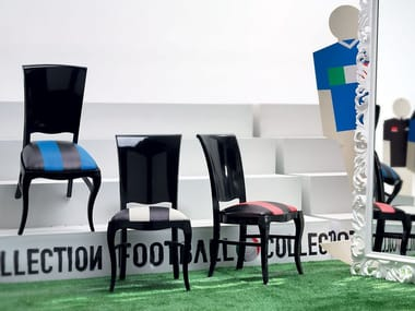 Lacquered fabric chair CHAMPIONS LEAGUE