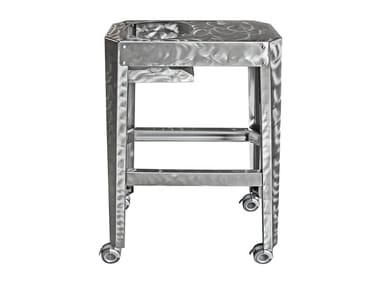Stainless steel drinks trolley CHAMPO | Drinks trolley