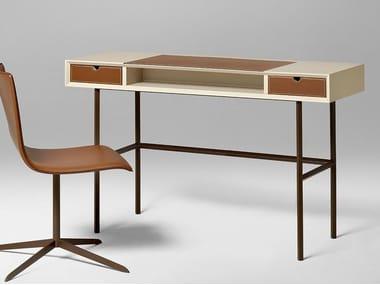 Scrivania rettangolare in legno con cassetti CHAPEAU | Scrivania con cassetti