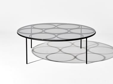 Round glass coffee table CHAPEL | Coffee table