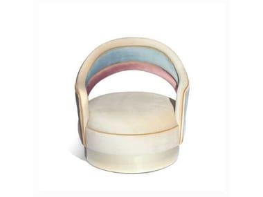 Swivel upholstered velvet easy chair with armrests CHARISSE | Easy chair