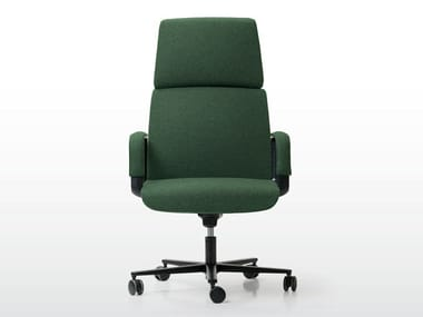 Fabric executive chair with 5-spoke base with castors CHARLES | Executive chair with 5-spoke base