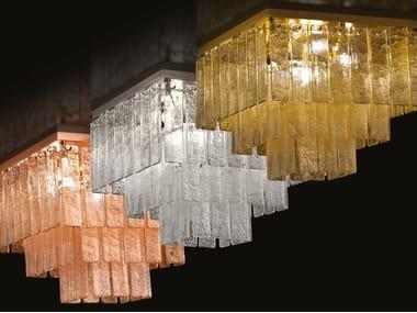 Lampada da soffitto a LED in vetro di Murano CHARLESTON | Lampada da soffitto