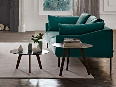 Round MDF coffee table for living room CHARLIE | Round coffee table