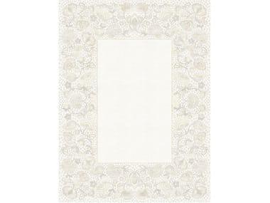 Handmade rectangular rug CHARLOTTE BLANC