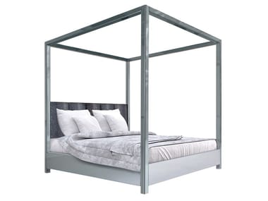 Lacquered double bed CHARLOTTE | Canopy bed