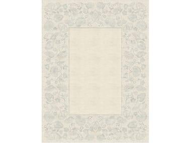 Handmade rectangular rug CHARLOTTE GRIS