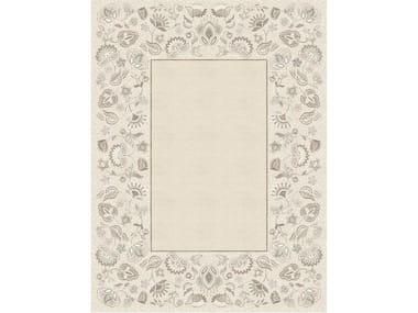 Handmade rectangular rug CHARLOTTE TERRESTRE
