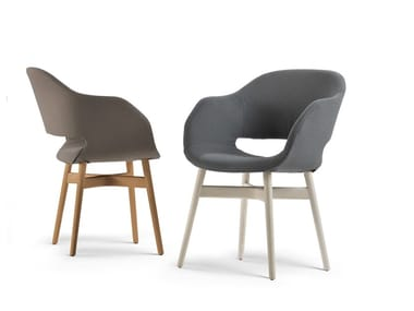 Upholstered easy chair with armrests CHARME
