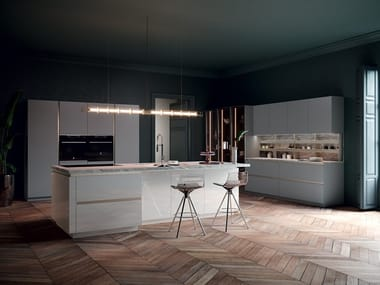 Kitchen with island without handles CHARME37