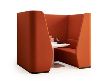 Acoustic fabric meeting pod CHAT SOFA