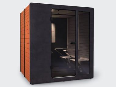 Cabine de escritório acústica com luzes integradas para reuniões CHATPOD 700
