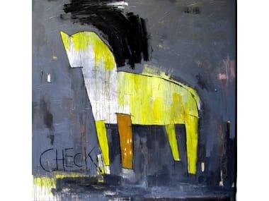 Acrylic on canvas CHECK